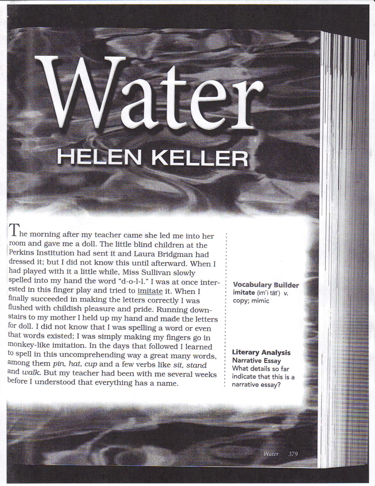 Wikischrooney Personal Narrative Written By Helen Keller