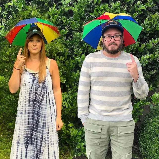 Trent Olsen and his girlfriend