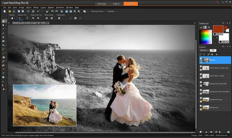 Phần mềm sửa ảnh Corel Paintshop - Ảnh 1