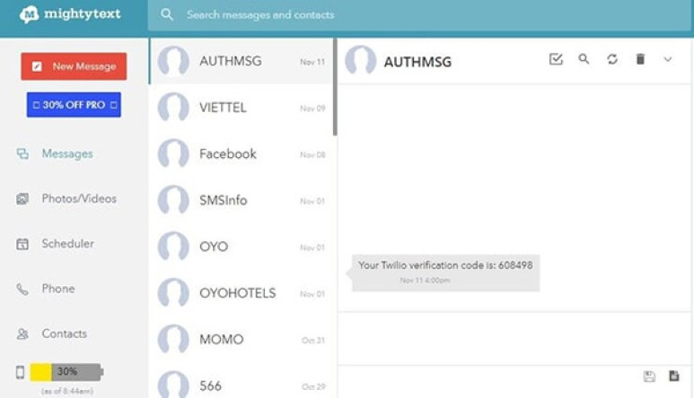 Theo dõi tin nhắn điện thoại bằng mightytext - Ảnh 3