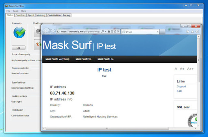 Phần mềm fake IP miễn phí Mask Surf Pro