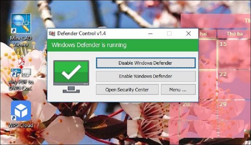 Tắt diệt virus trên máy tính win 10