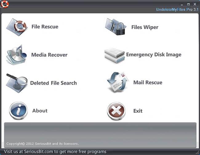 Phần mềm khôi phục UndeleteMyfiles