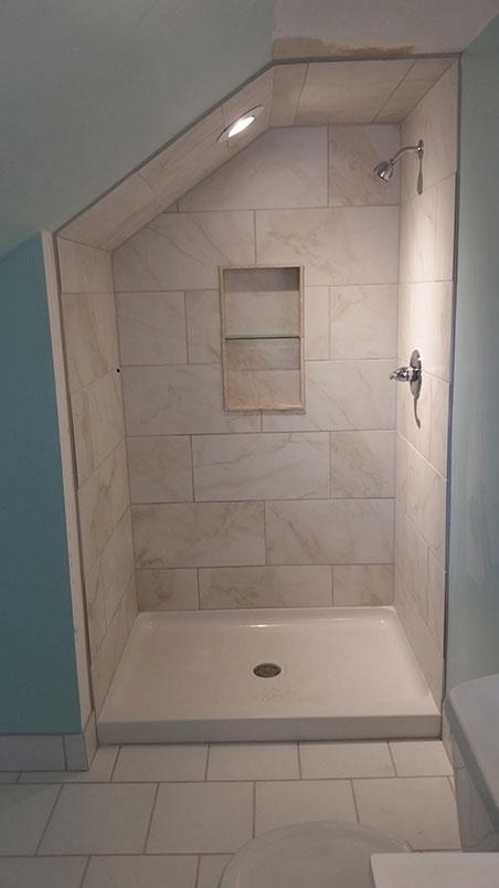 bathroom makeover converted an attic