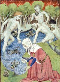 Harley 4431 f. 105v 1 Latona and the frogs.jpg