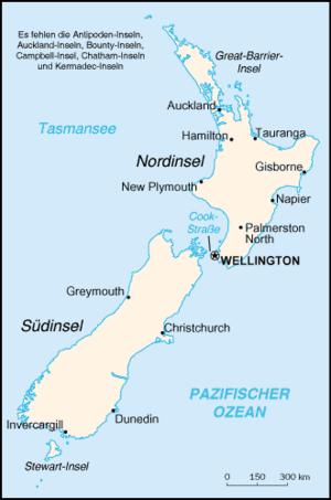 Karte von Neuseeland