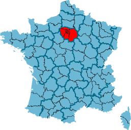 Map of Île-de-France