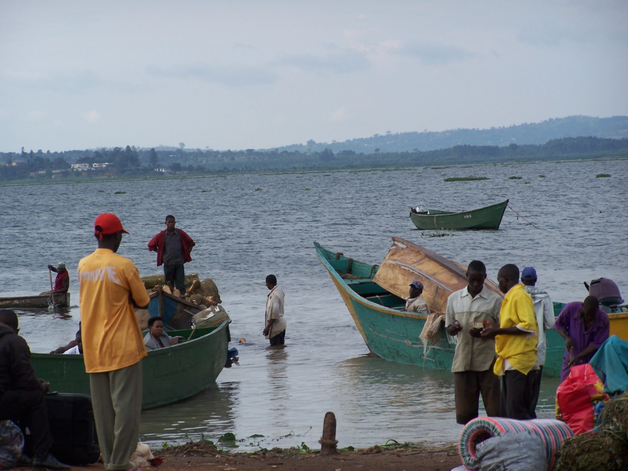 Fishermen and their boats