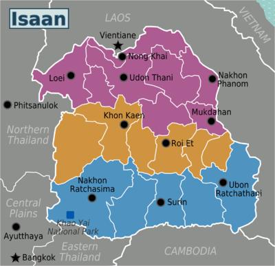 Regions of Isaan