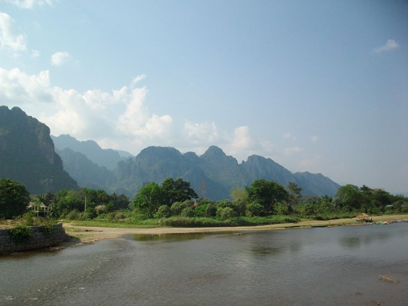 Nam Song Rive, Vang Vieng