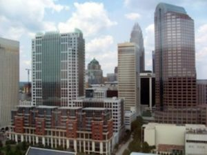 Uptown Charlotte from the Westin Hotel.