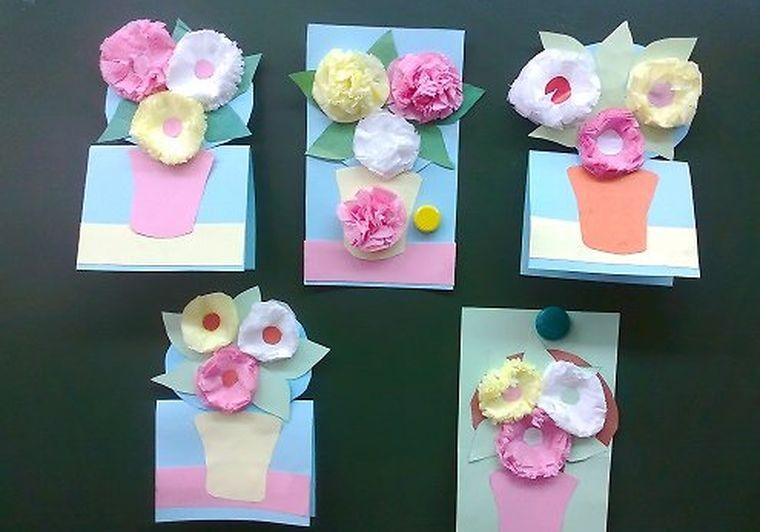 Свадь, открытки на 8 марта своими руками для мамы из салфеток