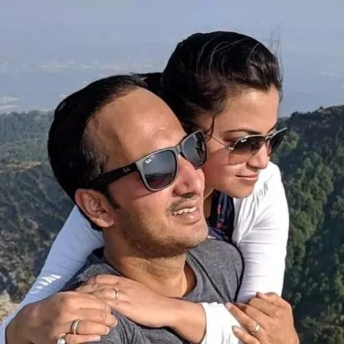 Neha Pant (News Anchor) with Husband Mayank Pant