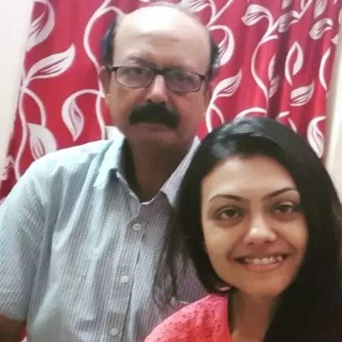 Arina Dey with father