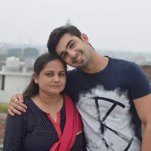 Abhishek Verma with mother