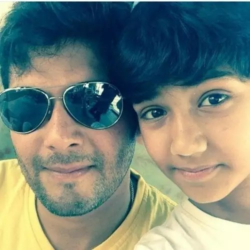 Amar Upadhyay with son