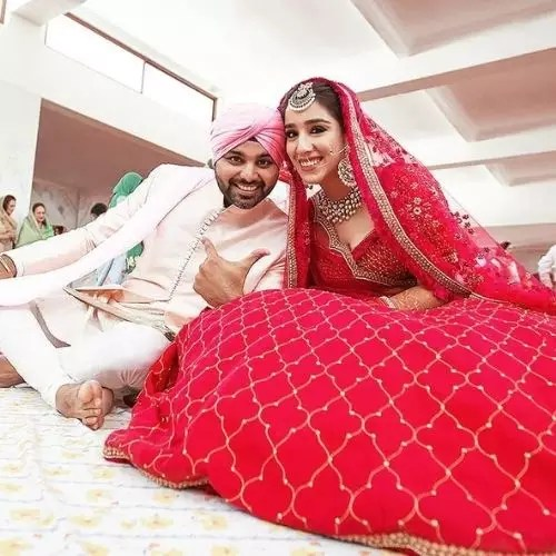 Manshil Gujral with husband