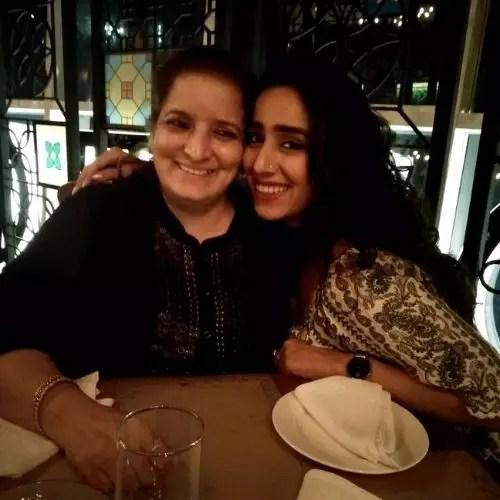 Mansheel Gujral with Mother
