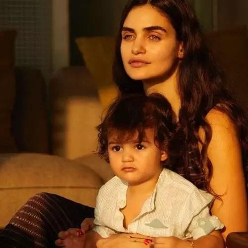 Gabriella Demetriades with son (Arik Rampal)