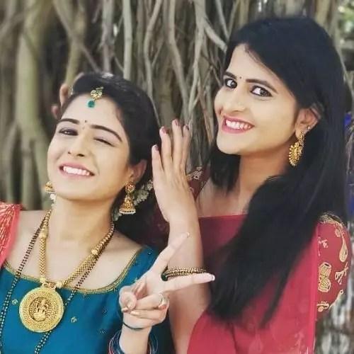 Supritha Sathyanarayan with Sister (Sharada)