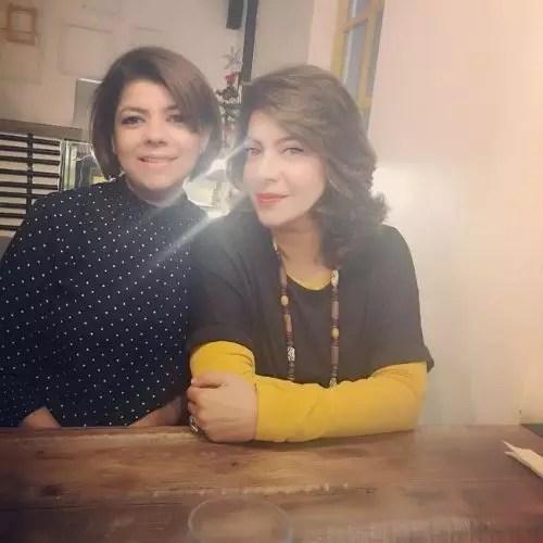 Divya Seth Shah with Sister