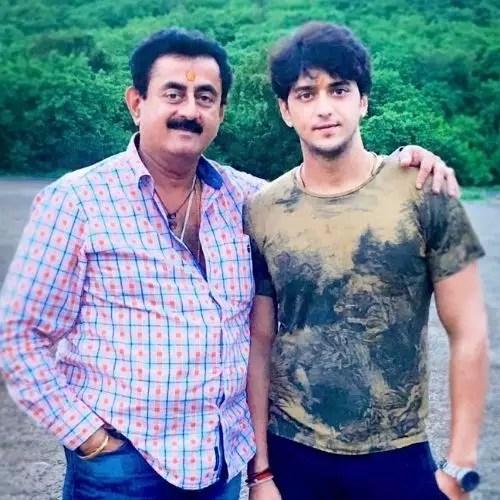 With Kinshuk Vaidya's father