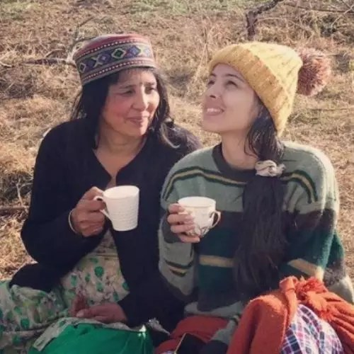 Richa Rathore with Mother
