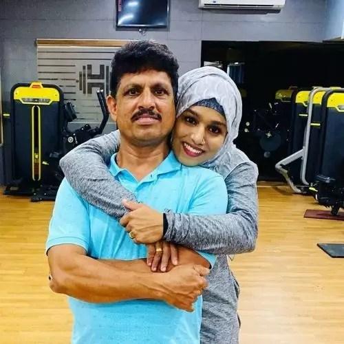 Majizia Bhanu with her father