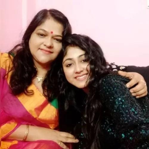 Sushmita Dey with mother