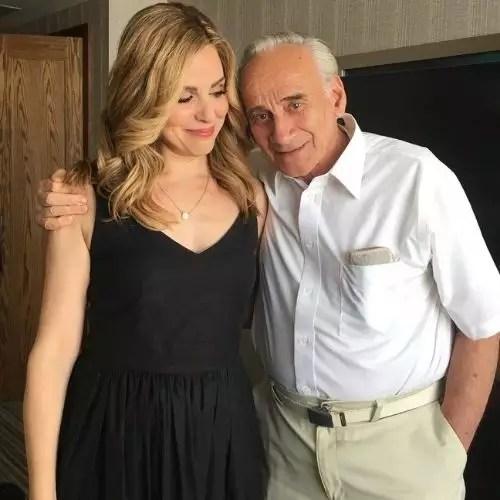 Cara Buono with Father