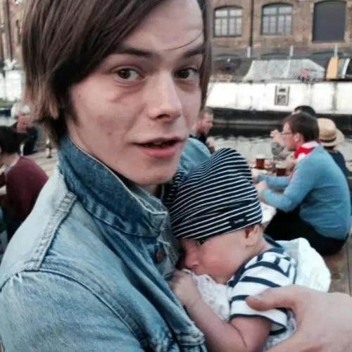 Charlie Heaton with Son