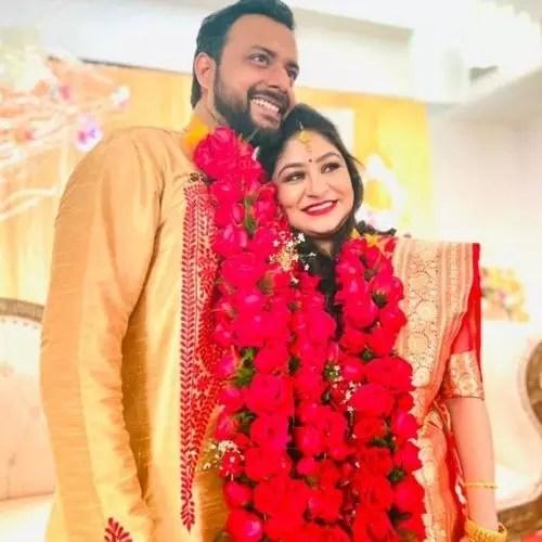 Indrasish Roy with Wife