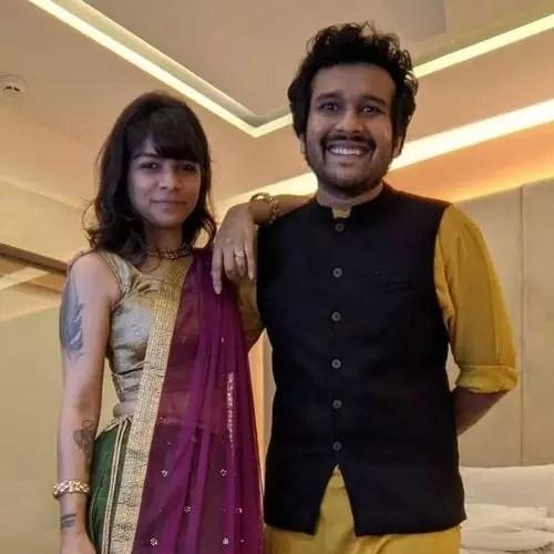 Sahil Shah with Meghana B (Wife)