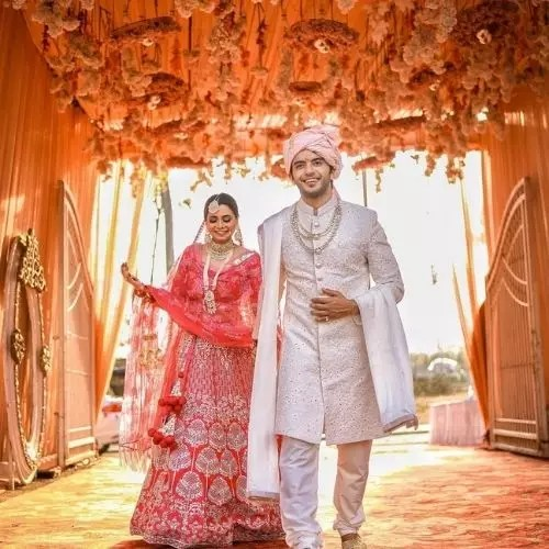 Vikram Singh Chauhan with Sneha Shukla (Wife)