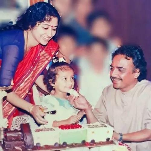 Vinaya Prasad with Husband and Daughter