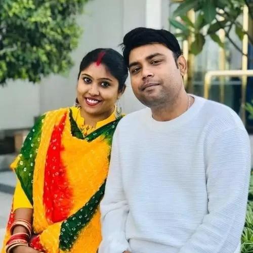Atul Kumar Sharma's Brother with Wife