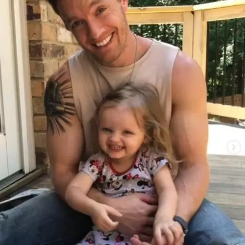 Chris Brewster with daughter