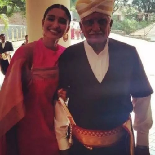 Dayana Erappa with Father