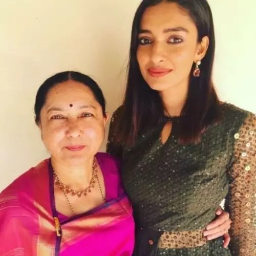 Dayana Erappa with Mother