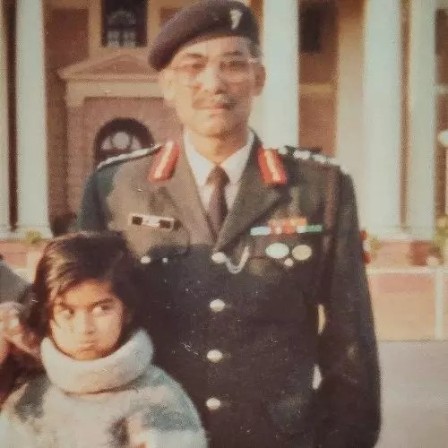 Donna Munshi with Father