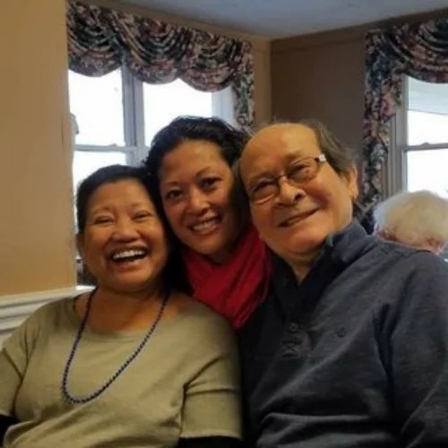 Eugene Cordero's Sister with Parents