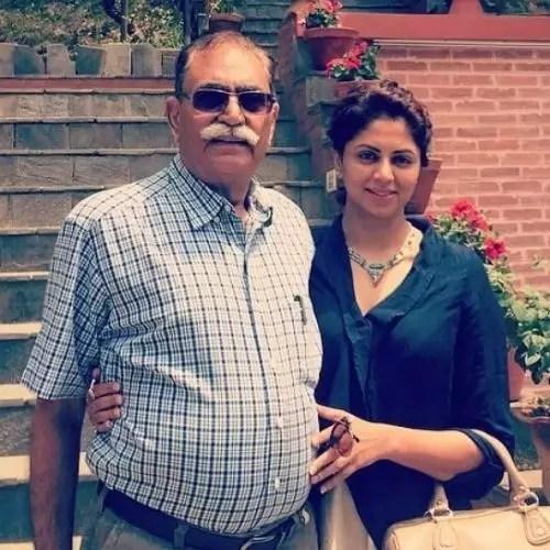 Kavita Kaushik with Father