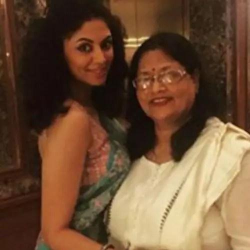 Kavita Kaushik with Mother
