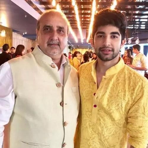 Nikhil Bhambri with Father