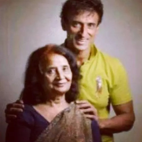 Rahul Dev with Mother