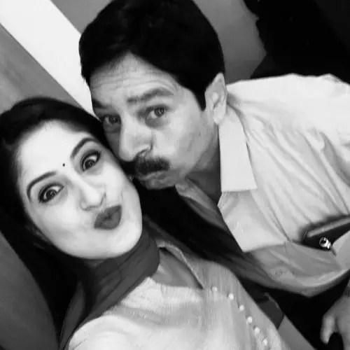 Ruchi Tripathi with father
