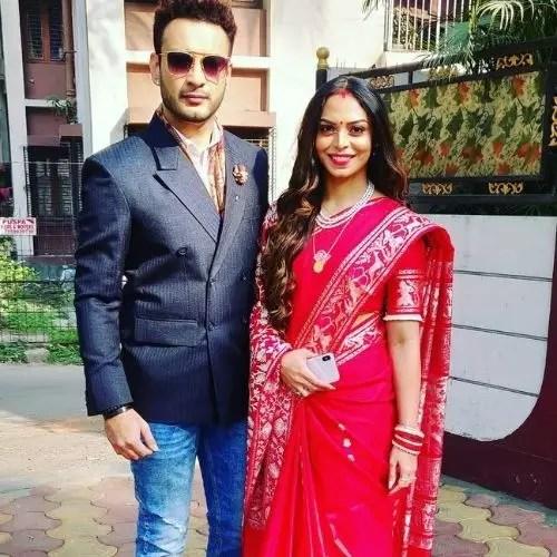 Saheb Bhattacharya with Sister
