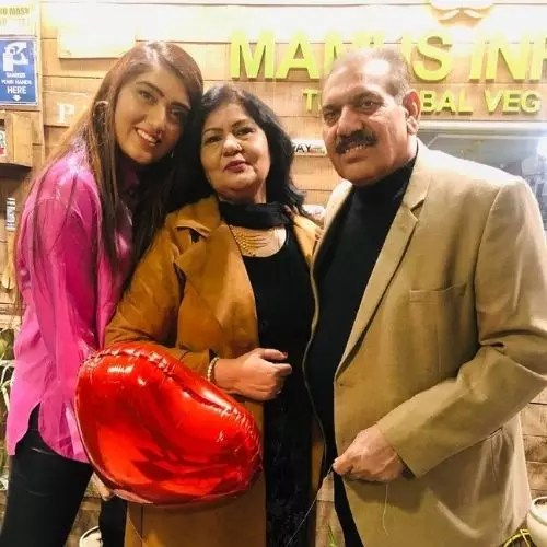 Shireen Mirza with Parents