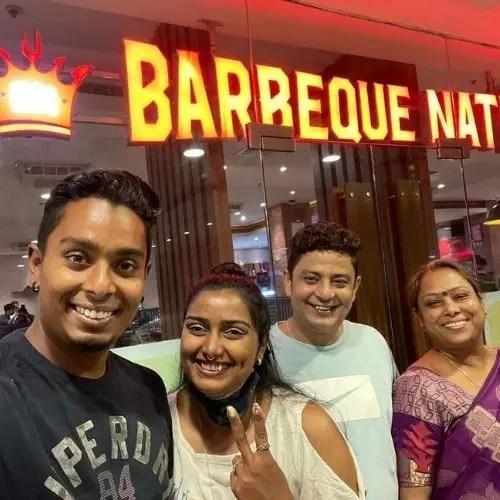 Atanu Das with Family