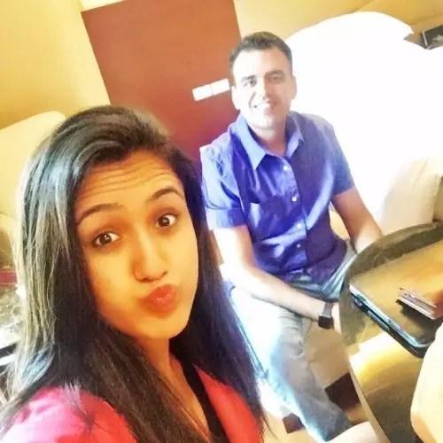 Manika Batra with Brother